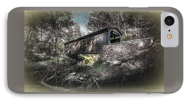Oxford Covered Bridge IPhone Case by Marvin Spates