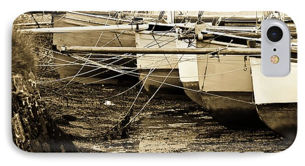 Oyster Boats Laid Up At Mylor IPhone Case