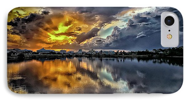 Oyster Lake Sunset IPhone Case by Walt Foegelle
