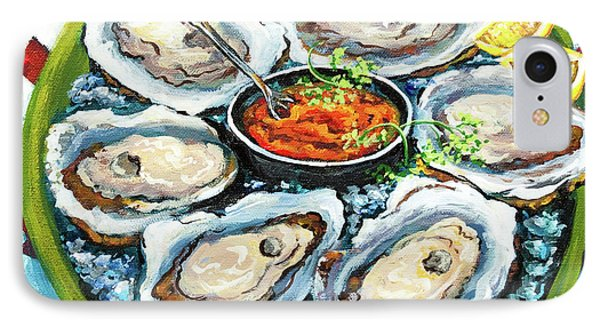 Food And Beverage iPhone 7 Case - Oysters On The Half Shell by Dianne Parks