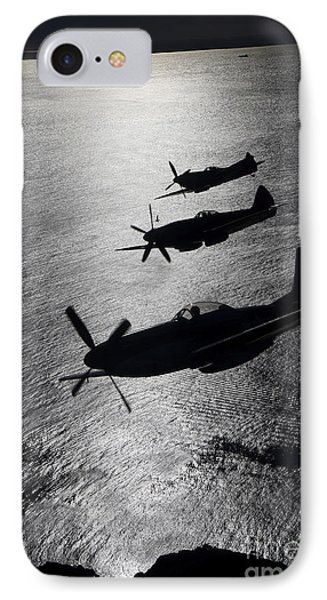 P-51 Cavalier Mustang With Supermarine IPhone 7 Case