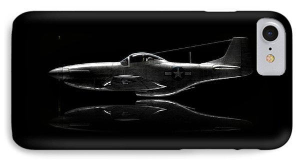 P-51 Mustang Profile IPhone Case by David Collins