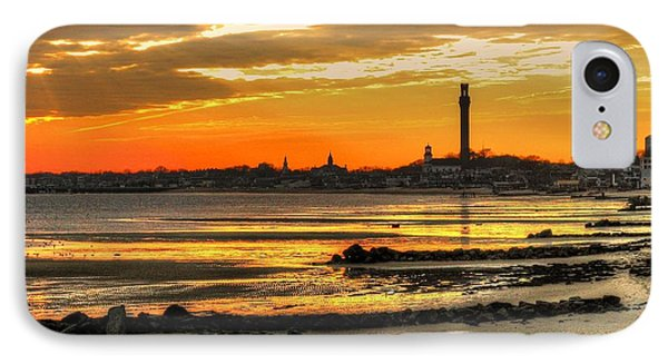 P Town Sunset IPhone Case by John Nielsen