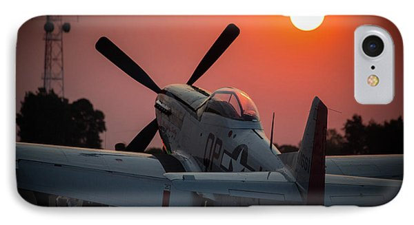 IPhone Case featuring the photograph P51 Sunset by Paul Job