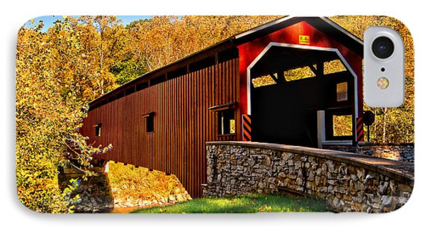 Pa Covered Bridge IPhone Case by Nick Zelinsky