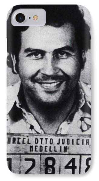 South America iPhone 7 Case - Pablo Escobar Mug Shot 1991 Vertical by Tony Rubino
