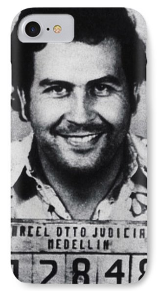 Pablo Escobar Mug Shot 1991 Vertical IPhone Case by Tony Rubino