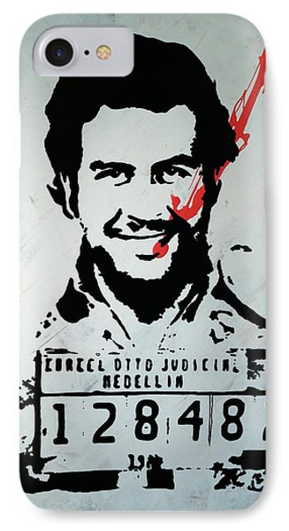 Pablo Escobar IPhone Case by Vagelis Karathanasis
