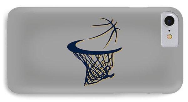 Pacers Basketball Hoop IPhone Case by Joe Hamilton