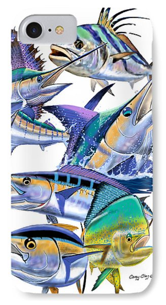 Pacific Gamefish  IPhone Case by Carey Chen