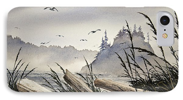 Pacific Northwest Driftwood Shore Phone Case by James Williamson