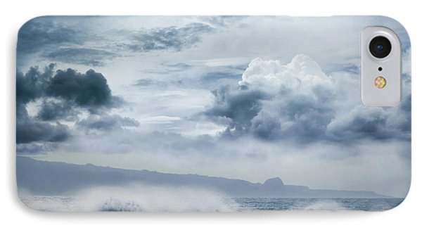 IPhone Case featuring the photograph He Inoa Wehi No Hookipa  Pacific Ocean Stormy Sea by Sharon Mau