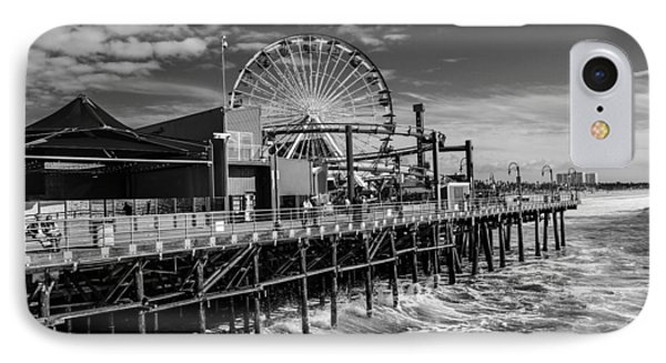 Pacific Park Bw IPhone Case by Robert Hebert