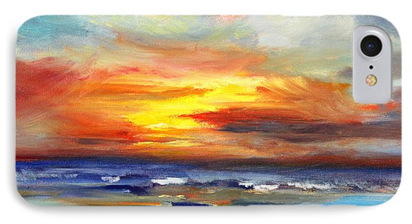 Pacific Sunset Glow IPhone Case by Nancy Merkle
