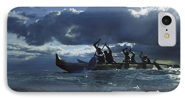 Paddlers At Sunset Phone Case by Bob Abraham - Printscapes