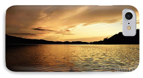IPhone Case featuring the photograph Paddling At Sunset On Kekekabic Lake by Larry Ricker