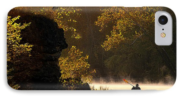 Paddling In Autumn IPhone Case by Robert Charity