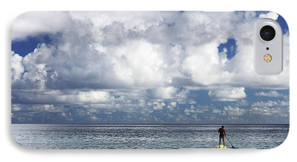 Paddling In The Open IPhone Case by Vince Cavataio - Printscapes