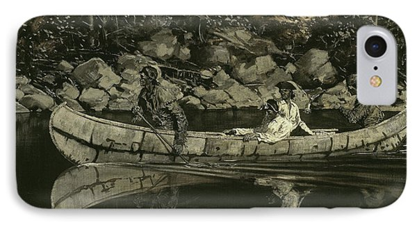 Paddling The Wounded British Officer IPhone Case by Frederic Remington