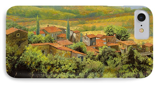 Landscapes iPhone 7 Case - Paesaggio Toscano by Guido Borelli