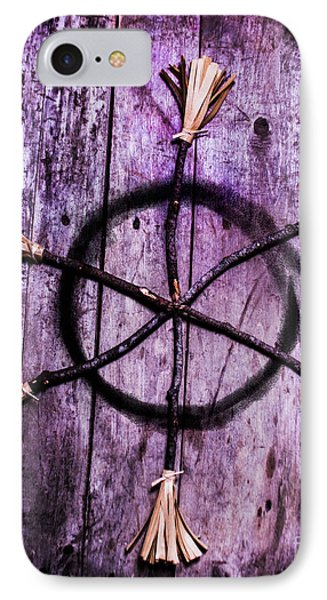 Pagan Or Witchcraft Symbol For A Gathering IPhone Case by Jorgo Photography - Wall Art Gallery