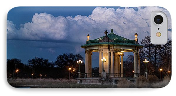 Pagoda At Sunset In Forest Park IPhone Case by Garry McMichael