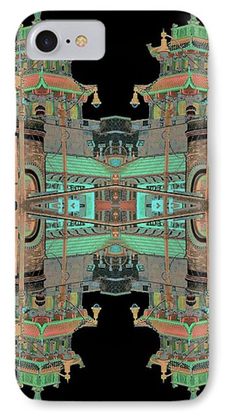 Pagoda Tower Becomes Chinese Lantern 1 Chinatown Chicago Phone Case by Marianne Dow