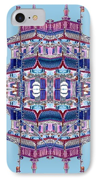 IPhone Case featuring the photograph Pagoda Tower Becomes Chinese Lantern 2 Chinatown Chicago by Marianne Dow