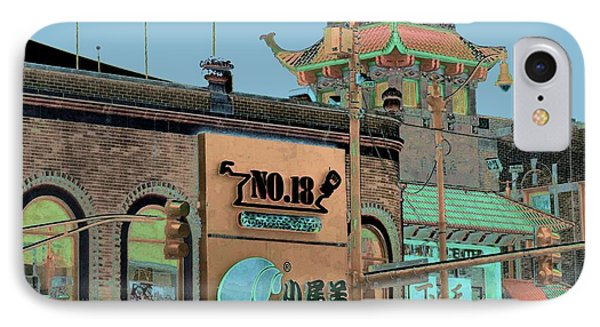 Pagoda Tower Chinatown Chicago Phone Case by Marianne Dow