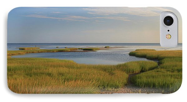 Paines Creek Marsh And Cape Cod Bay IPhone Case by John Burk