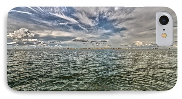 Paint Brush Sky - Ft Myers Beach IPhone Case by Christopher L Thomley