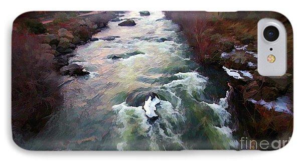Paint Deschutes Digital  IPhone Case by Chuck Kuhn
