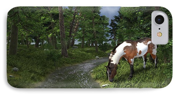 Paint Horse By The Forest Stream IPhone Case by Jayne Wilson