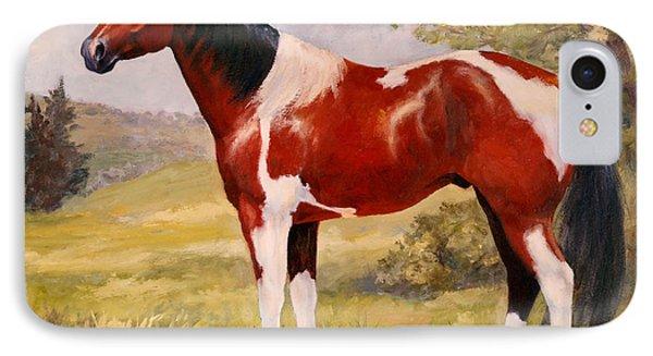 Paint Horse Gelding Portrait Oil Painting - Gizmo IPhone Case