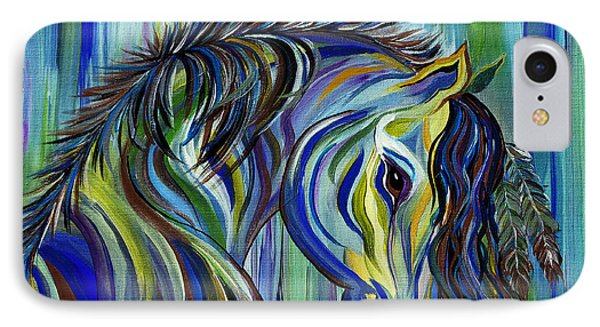 Paint Native American Horse IPhone Case