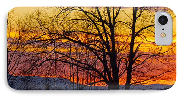 Paint Night Sunset IPhone Case by Alice Mainville