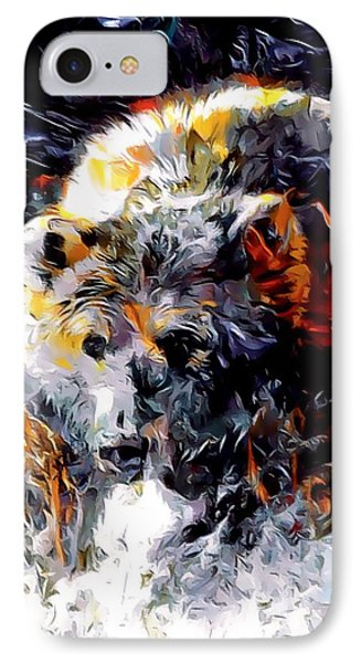 Paint Splashed Grizzly Abstract  IPhone Case
