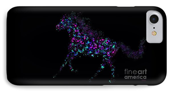 IPhone Case featuring the painting Paint Splattered Pony by Nick Gustafson