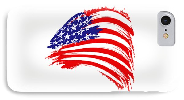 Painted American Flag IPhone Case