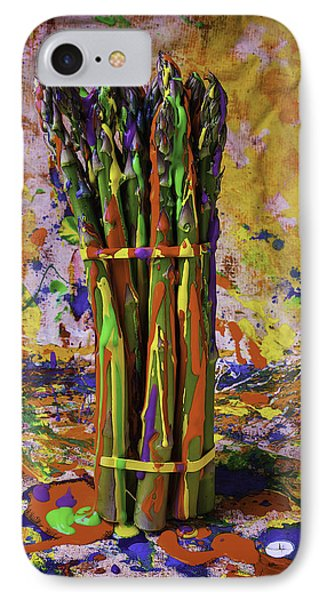 Painted Asparagus IPhone 7 Case by Garry Gay