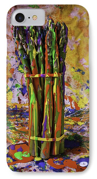 Painted Asparagus IPhone Case by Garry Gay