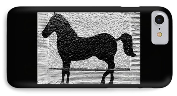 IPhone Case featuring the photograph Painted Black - Stone Pony by Colleen Kammerer