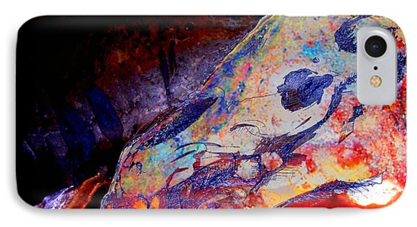 Painted Cave Skull IPhone Case