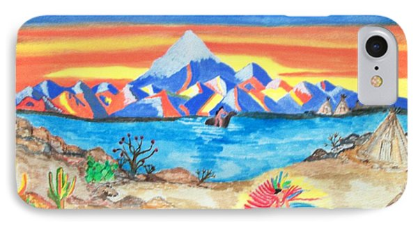 IPhone Case featuring the painting Painted Desert              by Connie Valasco