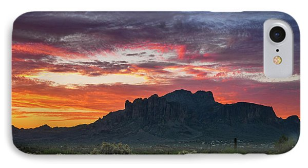 IPhone Case featuring the photograph Painted Desert Skies Over The Supes  by Saija Lehtonen