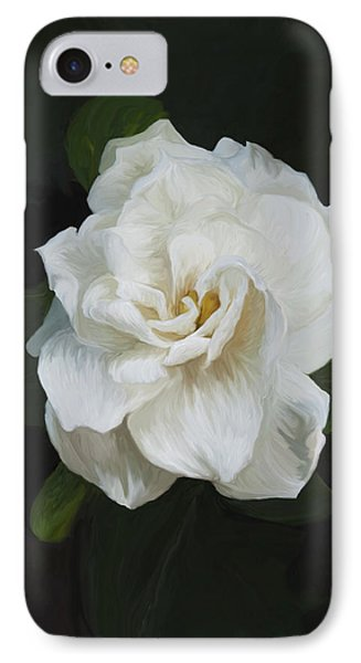 IPhone Case featuring the photograph Painted Gardenia by Phyllis Denton