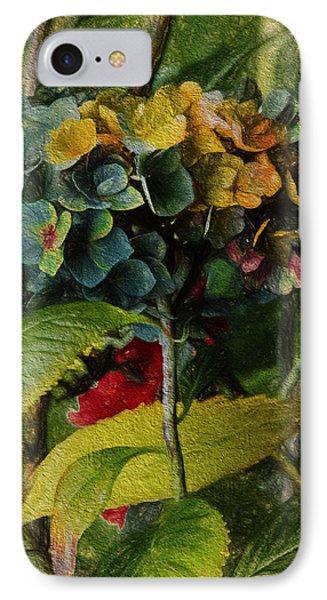 Painted Hydrangeas  IPhone Case by Bonnie Bruno