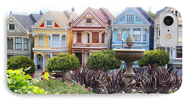 Painted Ladies San Francisco IPhone Case by Cheryl Del Toro