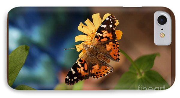 IPhone Case featuring the photograph Painted Lady Butterfly by Eva Kaufman