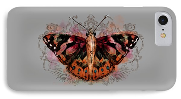 Painted Lady II IPhone Case by April Moen